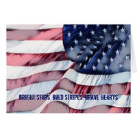 Bright Stars, Brave Hearts Veterans Day Card