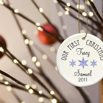 Personalized Our First Christmas Ornaments