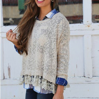 Knitted Long Sleeve T-Shirt