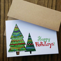 Christmas Card, Christmas Tree Card, Greeting Card
