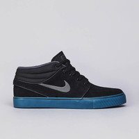 Flatspot - Nike SB Stefan Janoski Mid Black / Dark Base Grey - Atomic Orange - Ni