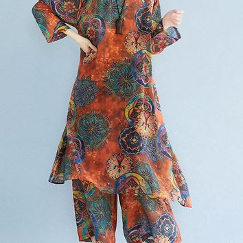 Loose Printed Two-piece Outfits