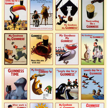 Guinness Classic Beer Ads Poster 11x17