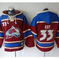 Hoodies Jerseys  ICE Hockey Avalanche #29 MacKinnon 92 Landeskog CAMO Best quality stitching Jerseys Sports jersey