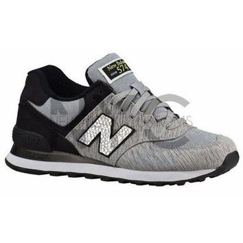 CREYON grey black new balance 574 swarovski crystal accent blinged out custom women