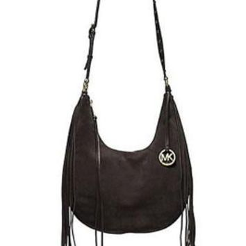 Michael Michael Kors Rhea Large Slouchy Suede Shoulder Bag