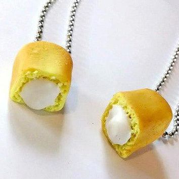 Snack Cake Pendants Polymer Clay Jewelry Bff Food