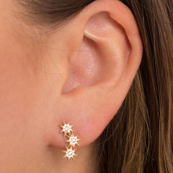 Starry Light Stud Earrings