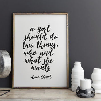 COCO CHANEL QUOTE Inspirational Print Coco Chanel Poster Coco Chanel Quote Typography Quote Home Decor Motivational Quote Coco Chanel Print