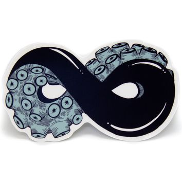 Tentacle Infinity Sign Vinyl Sticker in Teal