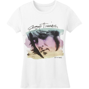 George Harrison - Watercolor Portrait Juniors T-Shirt