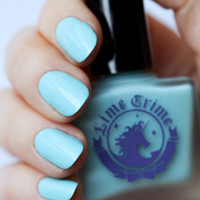 ONCE IN A BLUE MOUSSE pastel tiffany nail polish