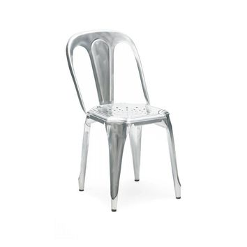 Meubles Vintage Galvanized Stackable Steel Side Chair (Set of 4)