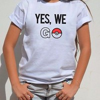 Pokemon Go Funny shirt women Tumblr adult graphic tee Top women men Pokeball top