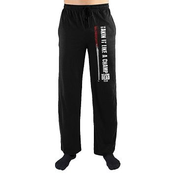 MPLP The Walking Dead Takin It Like A Champ Print Men's Loungewear Pajama pjs Pants