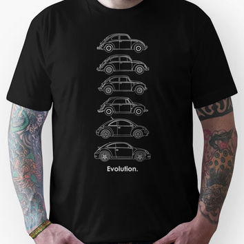 Evolution of the Volkswagen Beetle - for dark tees Unisex T-Shirt