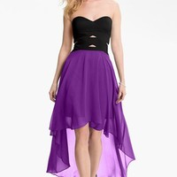 Hailey by Adrianna Papell Strapless High/Low Dress | Nordstrom