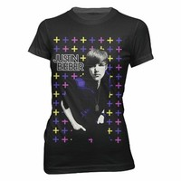 Bravado Juniors Justin Bieber Cross Women'S T-Shirt