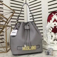 Moschino New fashion letter hand shoulder bag bucket bag Gray