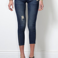Flying Monkey Cropped Zipper Ankle Skinny