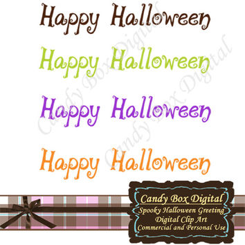 Spooky Halloween Word Art  - Commercial and Personal Use