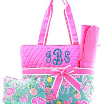 Flamingo Diaper Bag - 2 Color Choices