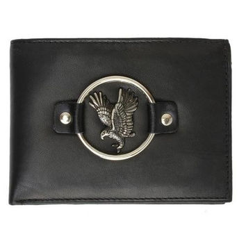 Biker Wallets Genuine Leather Bi-fold Man Wallet