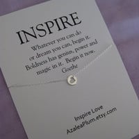 INSPIRATIONAL Jewelry. Best Friend. Goddaughter. Graduation Gift . Best Friend Necklace. Graduation Sister. Retirement.  Positive Energy