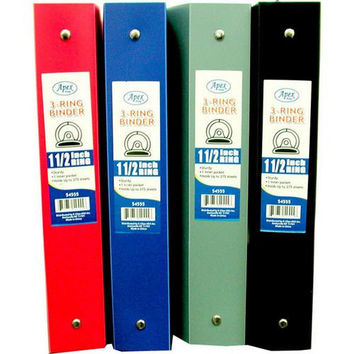 "Binder - Flexible Assorted Colors - 1.5"" - 3 rings"