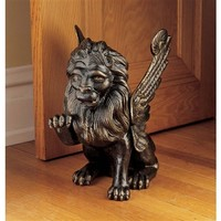 SheilaShrubs.com: Chimera Iron Sculpture SP1145 by Design Toscano: Door Mats & Stops