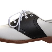 Hip Hop 50s Shop Womens Saddle Oxford Shoes 6.5