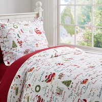 T'was the Night Before Christmas Flannel Duvet Cover