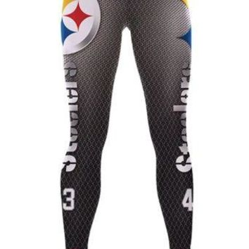 Pittsburgh Steelers Womens Leggings S/M Football Athletic Yoga Stretchy NWT