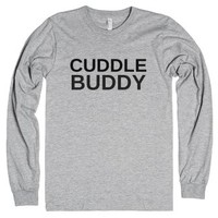 Cuddle Buddy-Unisex Heather Grey T-Shirt