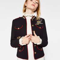 JACKET WITH EMBROIDERY DETAILS