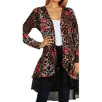 Leopard Rose Duster  Made in USA