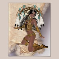 American Indian Princess Mandala Poster from Zazzle.com