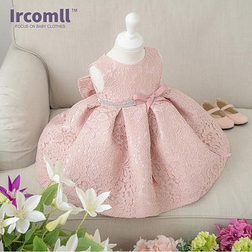 Baby Girls Dresses Princess for Birthday Party Christening Easter Lace Gown Toddler Lace Flower Dress for 0-2 Years