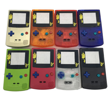 For Game Boy Color Gameboy GBC Case Housing w Screen & Colorful Buttons For GBC Pikachu Limited Edition Shell