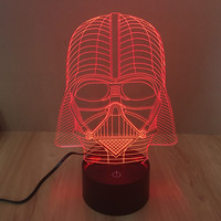 Multi-color 3D Colorful Starwars LED New Arrival Lamp = 5826236161