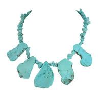 Exaggerated Stone Bib Statement Chunky Necklace