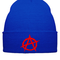 Anarchy embroidery - Beanie Cuffed Knit Cap