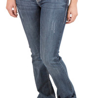 LA Idol Ladies Jeans Rose Bling Pocket