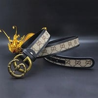 GUCCI Snake Woman Men Fashion Leather Belt