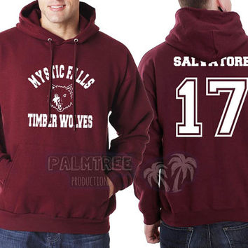 Salvatore 17 Mystic Falls The Vampire Diaries Unisex Hoodie S to 3XL