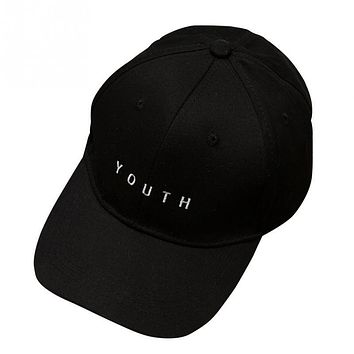 2017 Unisex Embroidery Youth Letter Baseball Cap Man and woman Snapback Hip Hop Flat Hat Black White Hot Pink dad cap PROMOTION