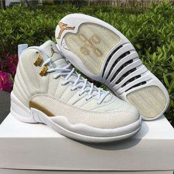 "Air Jordan 12 OVO ""White"" AJ 12 Men Women Basketball Shoes f216f1a9ac"
