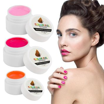 Hot Sale Nail Gel Polish Pure Colour Builder Solid Extension Gel 36 Colors UV Curing Long Lasting Nail Art Tips Bio Gel