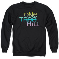 ONE TREE HILL/COLOR BLEND LOGO - ADULT CREWNECK SWEATSHIRT - BLACK -