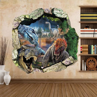 Big Jurassic Park Dinosaur Wall Sticker Vinyl Decal 3D Mural Art Kids Room Nursery Decor = 1946273412